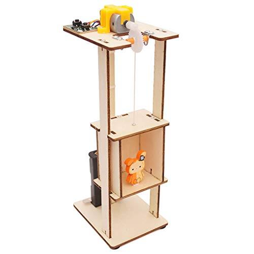 Premium-aufzug (hahuha Toy  Dekompressionsspielzeug,DIY montieren elektrischen Aufzug Spielzeug Kinder Wissenschaft Experiment Material Kits Spielzeug Geschenk)