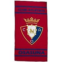 Club Atlético Osasuna Toaosa Toalla, Negro/Rojo, Talla Única