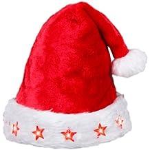 Weihnachtsmütze Nikolaus-Mütze Weihnachten X-Mas Blinksterne LED Bär Kinder 45