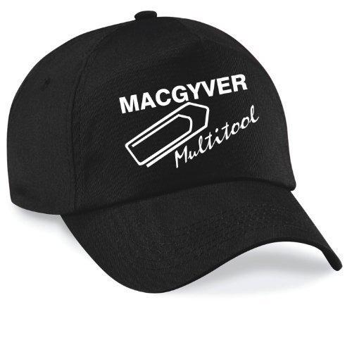 Basecap MAC GYVER Multi Tools Cap Capy Größe Unisex, Farbe schwarz (Stein Original Twill)