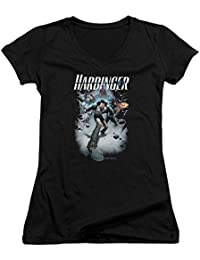 Harbinger - Damen 12 mit V-Ausschnitt T-Shirt