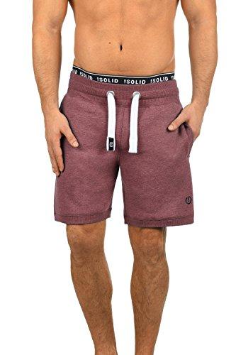 !Solid BennShorts Herren Sweat-Shorts Kurze Hose Sport-Shorts aus hochwertiger Baumwollmischung, Größe:XL, Farbe:Wine Red Melange (8985)