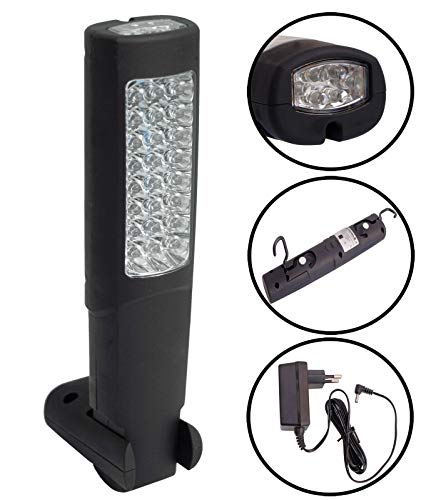 LAMPARA/LINTERNA PORTATIL DE TALLER 24 + 6 LEDS CON