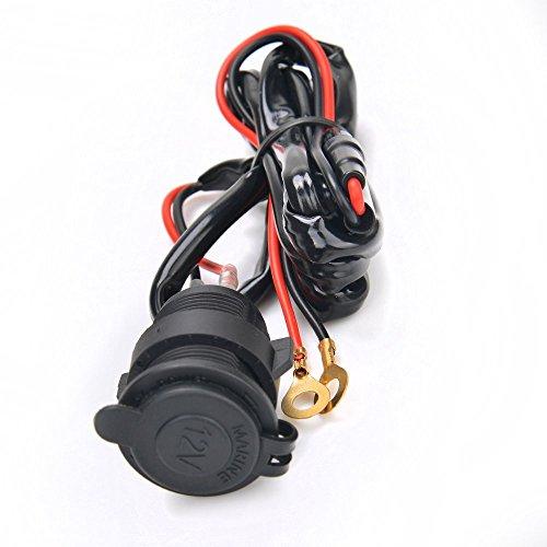 Preisvergleich Produktbild Grapelet 12V Auto Motorrad Wasserdicht Zigarettenanzünder Steckdose Buchse ZIGARETTEN-STECKDOSE inkl. 1.5M Verbindung-Kabel