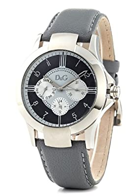 D&G Dolce & Gabbana Men's DW0533 Leather Synthetic with Black Dial Watch