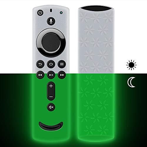 Hydream Schutzhülle für Fire TV Stick 4K / 4K Ultra HD mit der Neuen Alexa-Sprachfernbedienung (2.Gen), Leichte rutschfeste Stoßfeste Silikon Fernbedienung Silikonhülle Cover Hülle (Glow Green)