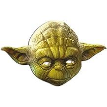 Empire Interactive - Máscara de cartón (efecto satinado, agujeros en los ojos y cinta de goma, tamaño 30 x 20 cm), diseño de Yoda de la Guerra de las Galaxias
