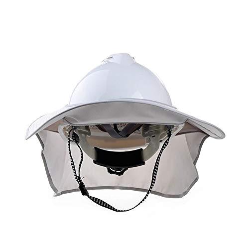 WYNZYSLBD Schutzhelm-Sonnenschutzabdeckung - Hochsichtbare, Reflektierende Sonnenblende Mit Vollem Sonnenschutz Für Den BAU Und Die Landschaftsgestaltung (ohne Helm) (Color : Gold)