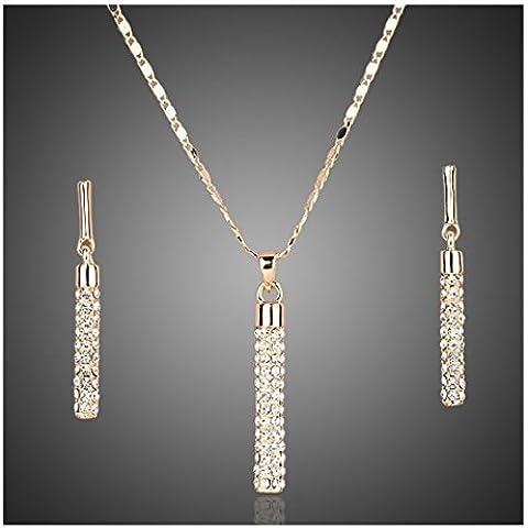 18ct placcato oro gioielli scintillanti di scenografo cristalli Swarovski regalo di qualità per le donne