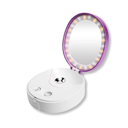 DWCC Gesicht Luftbefeuchter Gesichts Dampfer Spiegel Cold Nano Ionic Nebel Inhalator Spray Dämpfenden Gesicht Für Hautpflege Schönheit Instrument Lichter