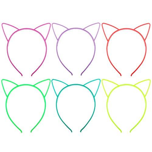 Candygirl 6 Piezas Multicolor Diademas Orejas Gato