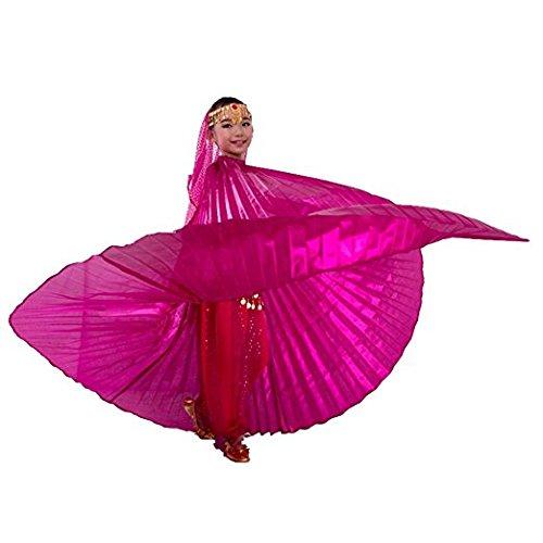 Tanzbekleidung & accessories isis ali wings per bambini il velo danza ventre belly dance costume danza fasching carnevale samba, pink