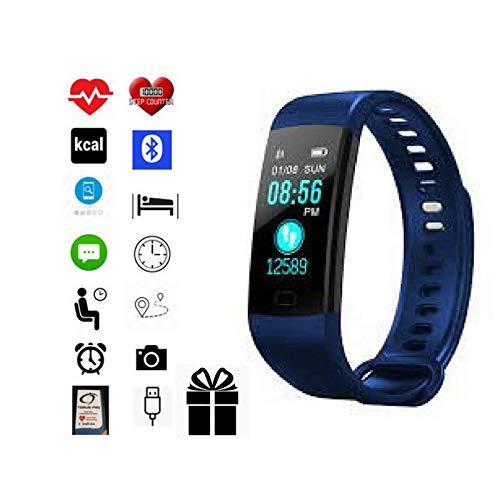 Torus Pro Y5 blau Herzfrequenzmesser, Sport Armbanduhr und Activity Tracker mit Blut Sauerstoff und Blut Druck Überwachung