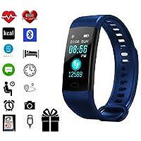 Torus Pro Bleu moniteur de fréquence cardiaque, montre de sport et de suivi d'activité à l'oxygène du sang et de la pression artérielle