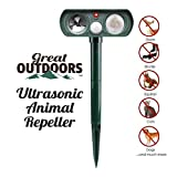 Ultrasonic Animal Repeller and Solar Pest Waterproof Repellent - Effective & Humane Outdoor