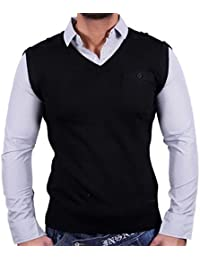 Sixth June Designer Sweat-shirt à Chemise Pull noir SJ de 343