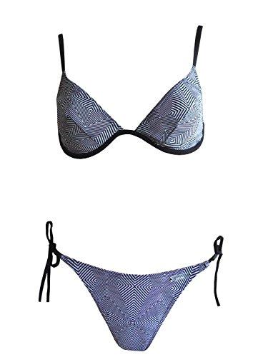 Solar Tan Thru Bügel-Bikini 120752-51 schwarz/weiss, Gr. 38 B-Cup