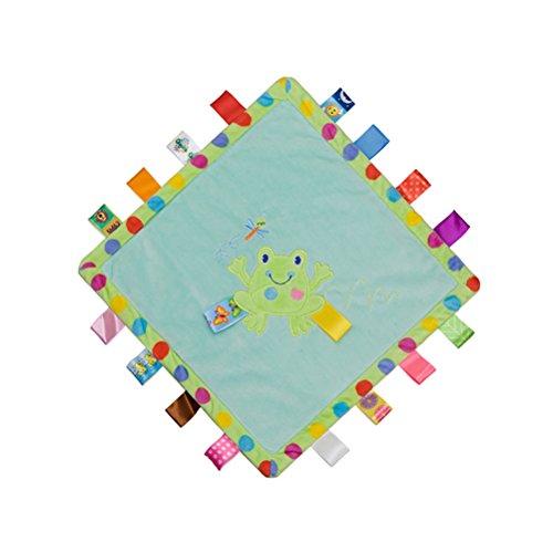 TOYMYTOY Kinder Sicherheitsdecke Schmusedecke Tröster Spielzeug Hilfe Baby Kinder zum Schlafen (Frosch)