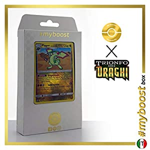 Flygon 39/70 Holo Reverse - #myboost X Sole E Luna 7.5 Trionfo dei Draghi - Box de 10 Cartas Pokémon Italiano
