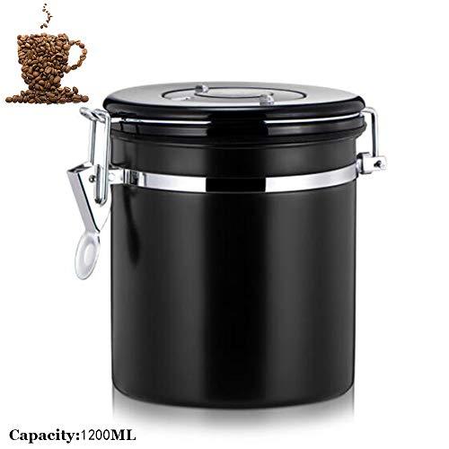 1200 Ml Edelstahl Versiegelt Lebensmittel Kaffeebohne Lagerung Trockenfrüchte Container Eingebaute...