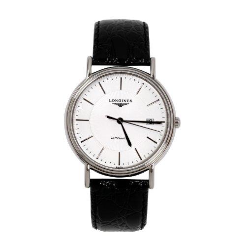 Longines Presence Montre bracelet Homme, Cuir, couleur: noir