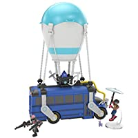 Fortnite 63512 Royale Collection Battle Bus and 2 Exclusive Figures Funk Ops and Burnout, Blue