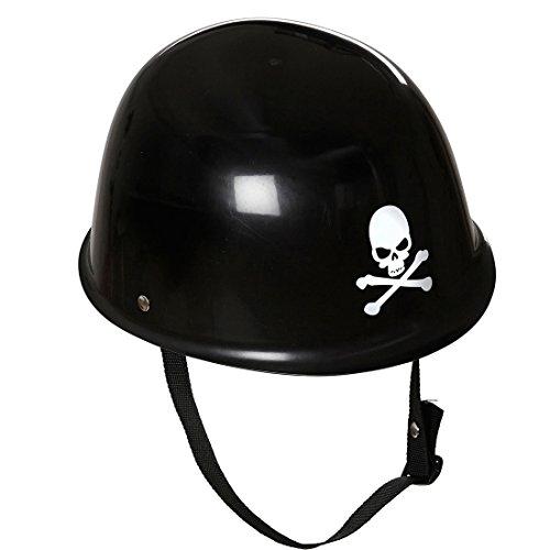 NET TOYS Totenkopf Helm Skull Motorradhelm Totenschädel Bikerhelm Gothic Biker Totenkopfhelm Rocker Totenkopfhelm Hardrock Motorrad Kopfbedeckung Karneval Kostüm Zubehör
