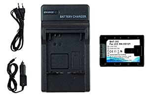 Batterie + Chargeur BN-VG121 pour JVC GZ-E10, E15, E100, E105.../ GZ-HM30, HM300... -INFOCHIP-