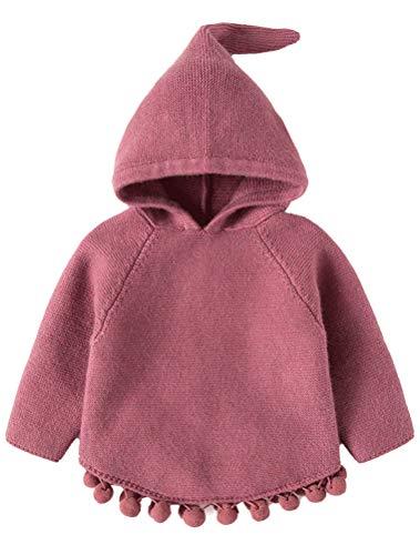 ARAUS Baby Strickjacke mit Kapuzen Strickpullover Mädchen Gestrickt Pullover ()
