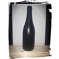 Botellas recicladas; botella de decoración; jarrón; botella de cristal negra con ...