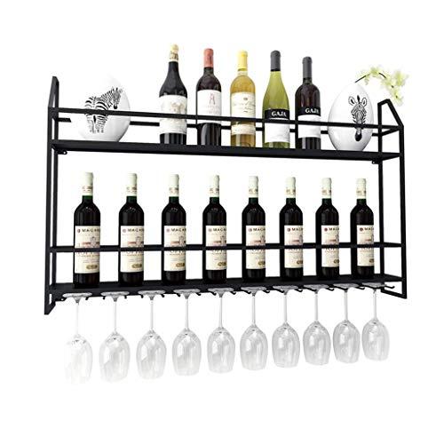 GUOF Weinglashalter Weinflaschenständer aus Metall zur Wandmontage Weinregal/Wandmontage-Weinregal/hängender umgestülpter Glasständer/Bar für kreatives Zuhause Weinregal Decke Weinregal