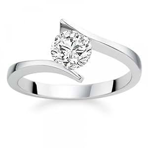 2.33 Carat G/VS1 Round Brilliant Certified Diamond Solitaire Engagement Ring in Platinum