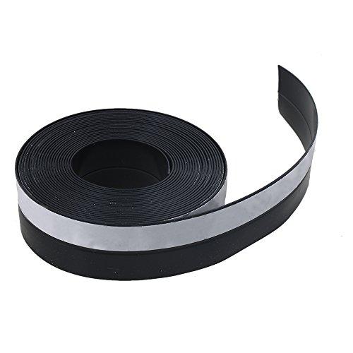 Tira de goma para puertas o ventanas corredizas de Bqlzr 25 x 1 mm color negro 5 metros