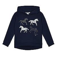 J By Jasper Conran Kids Girls' Navy Horse Print Hoodie Age 9-10
