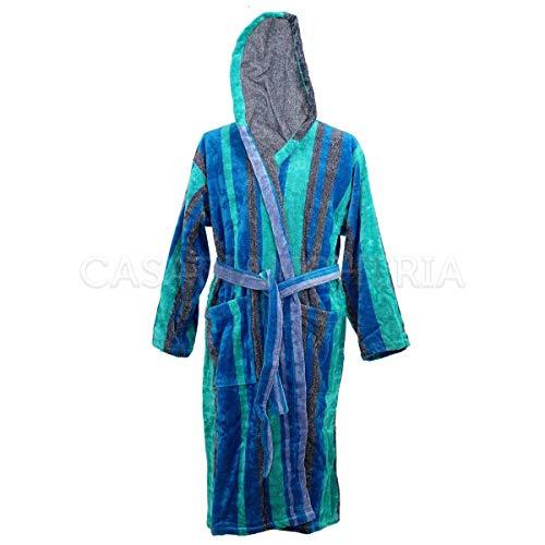 Mirabello CARRARA Bademantel Frottee Orsay S/M blau