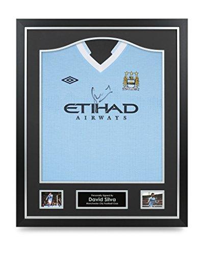 David-Silva-Signed-Shirt-Manchester-City-Framed-Autograph-Jersey-Memorabilia-COA