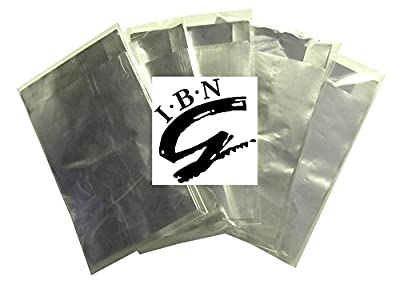IBN - 50 Wraps - 5 Packs of 10 - UV Gel Polish Soak Off Foil Removal/Remover Wraps with Foam Pads, Nail Art, Acrylic, Shellac.