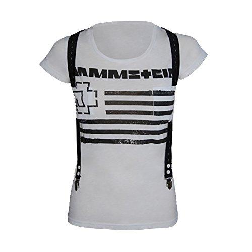 """Rammstein, T-shirt per donne """"Suspender"""" (L)"""
