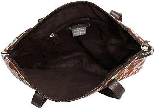 Alpenflüstern - Trachtentasche Lebkuchenherzen Dta045, cartella Donna Marrone (Braun)