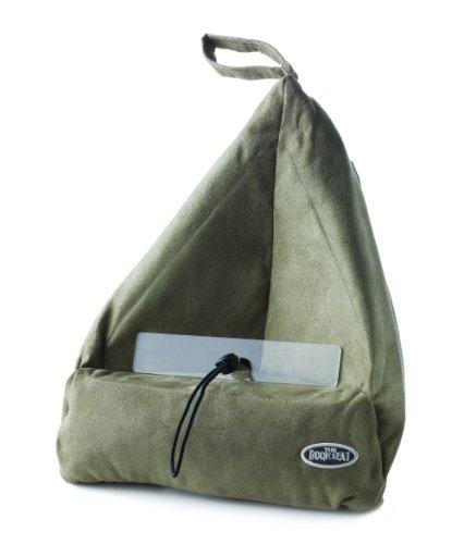 book-seat-9346017000055-lesesack-buchstutze-buchkissen-tablet-pc-halter-reisekissen-mit-tasche-olive