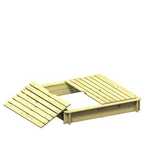 Sandkasten mit Deckel HARRY 4-Eck 120x120cm