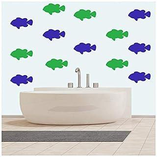 azutura Goldfish Fish Wall Sticker Pack Under The Sea Wall Decal Bathroom Kids Decor Lemon Yellow