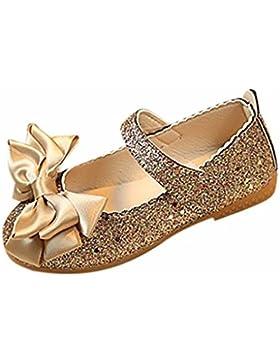 Culater® Zapatos Para Niña Mary Janes Zapatillas Merceditas Moda Flor Chicas (4~10 Años)