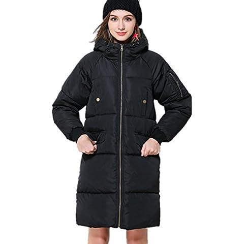 XYXY Ocio Mujer con Capucha Invierno Caliente Abajo Abrigos . black . xxl