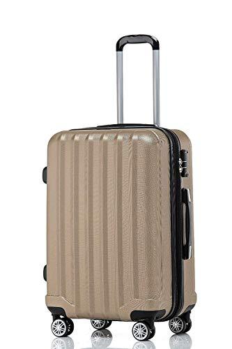 BEIBYE TSA-Schloß 2080 Hangepäck Zwillingsrollen neu Reisekoffer Koffer Trolley Hartschale Set-XL-L-M(Boardcase) (Champagner, L)