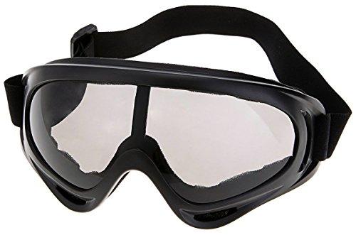 Beauty *Top *Picks Motorrad Fahrrad Ski Snowboard Motocross Schutzbrille für Off-road schwarz schwarz