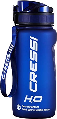 Cressi Water Bottle H20 Frosted, Borraccia Sportiva Unisex, Blu, 600 ml