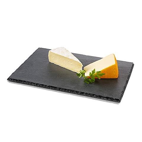 Boska 359001 Käsebrett Größe L aus Schiefer, Stein, schwarz