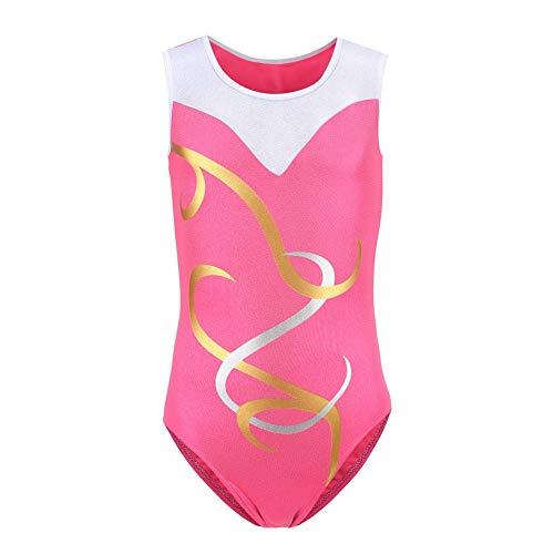 Gymnastikanzüge für Mädchen Stripes Dancing Athletic Trikot Kostüm Ballett Gymnastik Kleidung