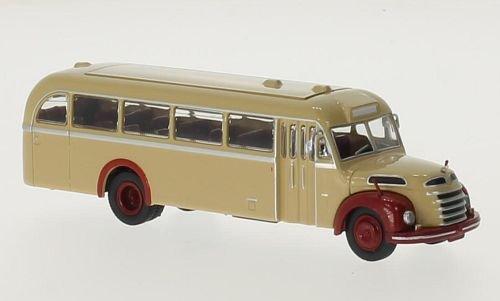 Gräf & Stift 145 FON, beige/rot, 0, Modellauto, Fertigmodell, Brekina Starline 1:87